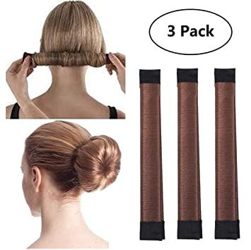 Amazon 3 Pack Magic Hair Styling Disk Donut Bun Maker Former
