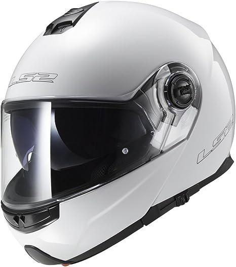 LS2 Strobe Solid Mens Modular Motorcycle Helmet Gloss Black Large 325-1004