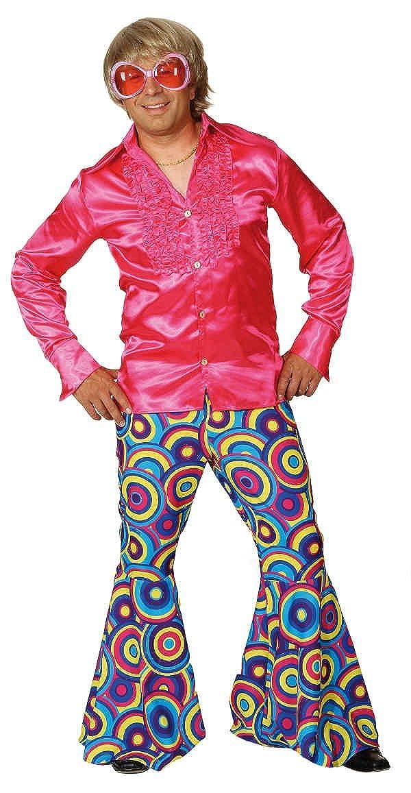 Schlaghose Crazy in pink-blau zum Herren Kostüm Karneval Fasching