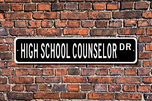 Teisyouhu Metal Sign Post High School Counselor Gift Sign Guidance Plaque Wall Home Decoration Street Sign
