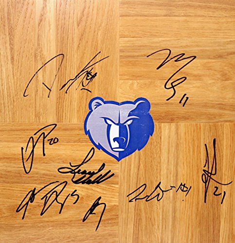 (Memphis Grizzlies 2012-13 Team Signed Autographed Basketball Floorboard Mike Conley)