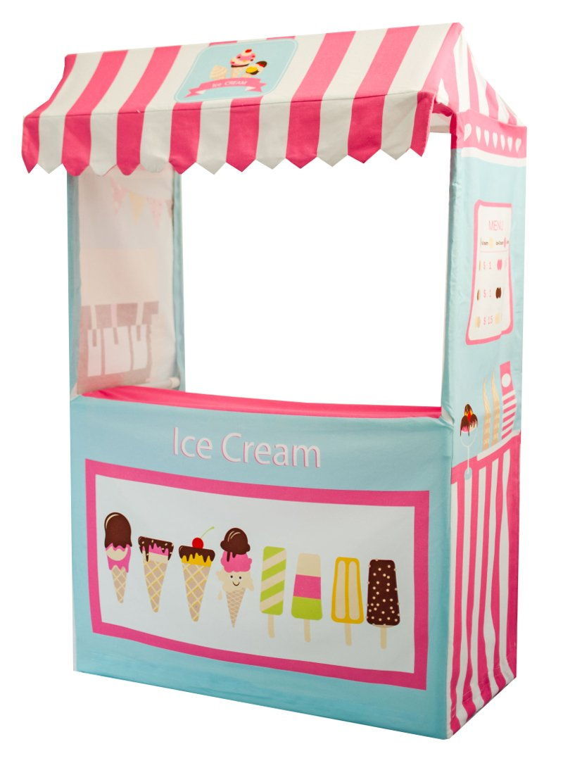 ASWEETS Ice Cream Play Tent Stand, Light Blue/Pink by Asweets (Image #1)