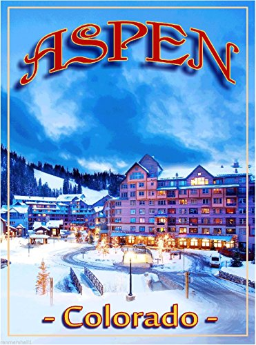 Aspen Colorado Ski Resort United States of America Travel Advertisement - Poster Aspen Vintage