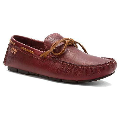 Pikolinos - Mocasines para Hombre, Color Rojo, Talla 45 EU: Amazon.es: Zapatos y complementos