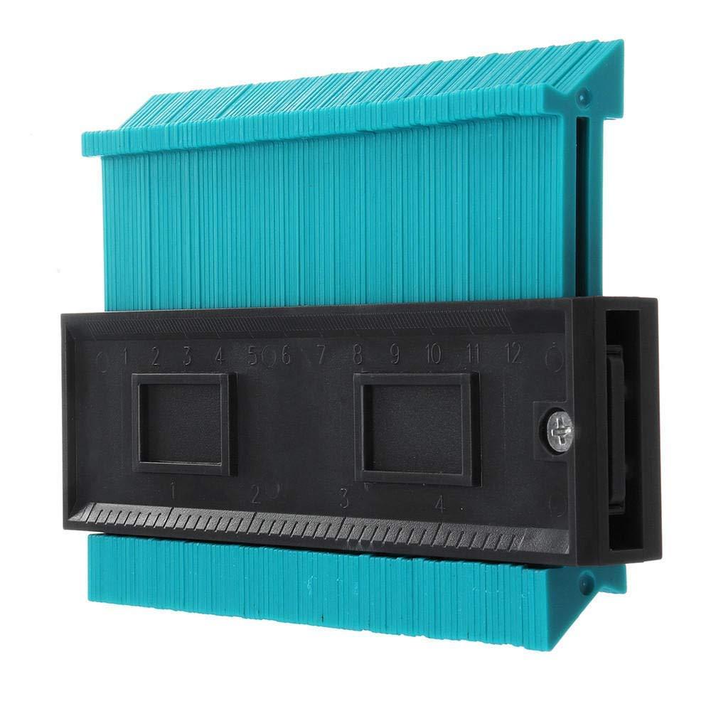 ZCZUOX Contorno de Perfil de 10 Pulgadas Calibrador de Azulejos Azulejos Laminados Conformaci/ón de Bordes Regla de Medida de Madera Duplicador de Medidor de Contorno de ABS