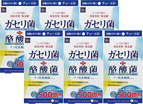 【6個セット】ガセリ菌+酪酸菌 90粒 B076T4T326