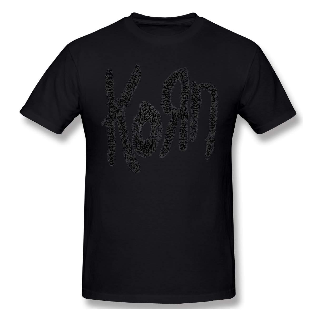 Korn Logo Men Classic Short Sleeve Shirt Black