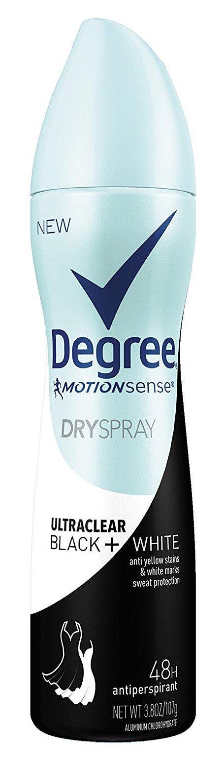 Degree Deodorant 3.8 Ounce Womens Dry Spray Black & White (112ml) (3 Pack)