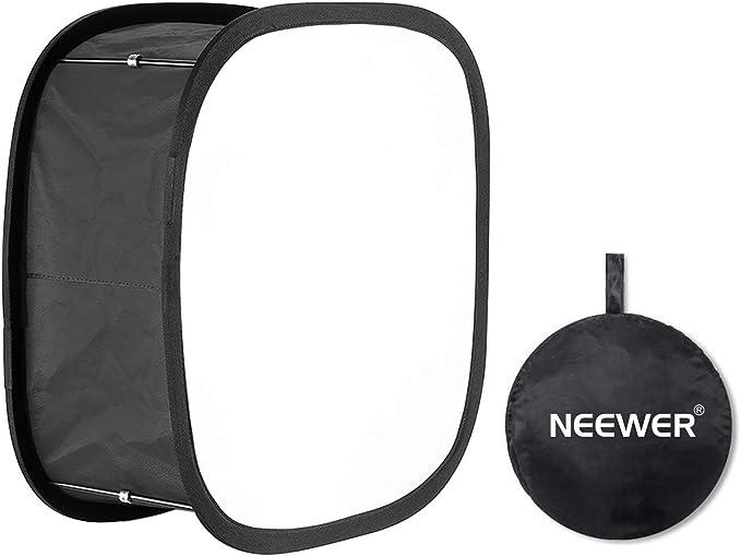 Neewer LED Luz Softbox de Panel para 480 LED Apertura de 23.5x23.5cm Plegable con cinta de Bloqueo y Bolsa de Transporte para Retratos de Estudio Fotográfico Video Aspecto Natural: Amazon.es: Electrónica