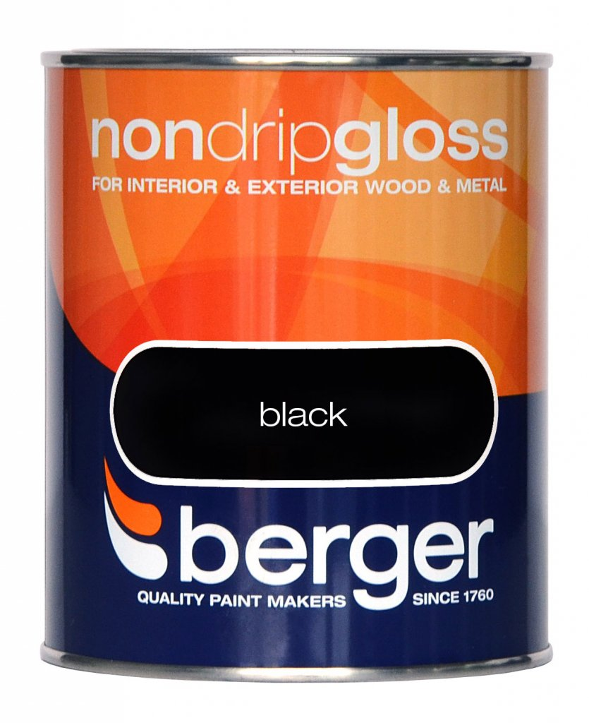 Berger Non Drip Gloss 750ml Navy Blue