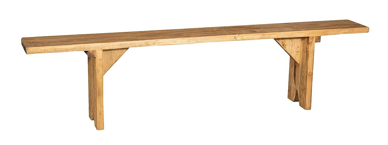 Biscottini Sitzbank aus massivem Holz, Naturfinish Made in Italy