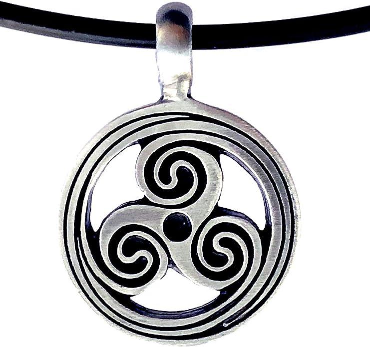 Celtic Cross Pewter Irish Tribal Black Charm Pendant /& Pvc Choker Necklace