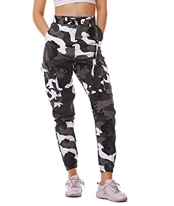 Workwear Jogginghose Fanient F7gb6yy Sporthose Camouflage Hosen Damen WQCxrdBoe