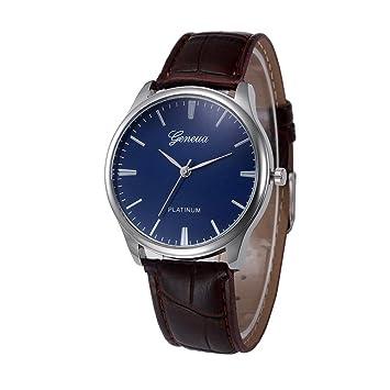 Xinantime Relojes Mujer,Xinan Reloj de Pulsera Reloj Redondo Cuero Imitación para Mujers (Marrón): Amazon.es: Deportes y aire libre