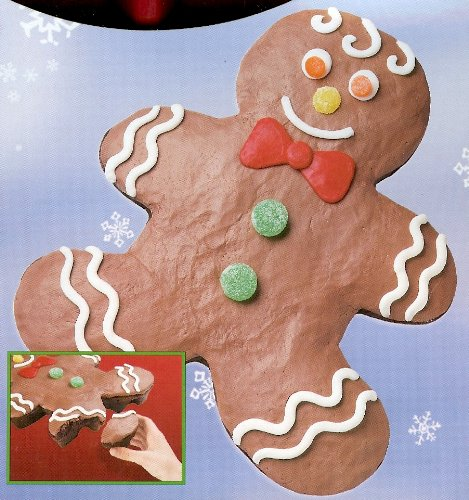 Wilton Silicone Holiday Valentine Pull Apart Gingerbread Boy Cake Pan Mold (2105-4912) ~ 24 Cavity ~ Retired