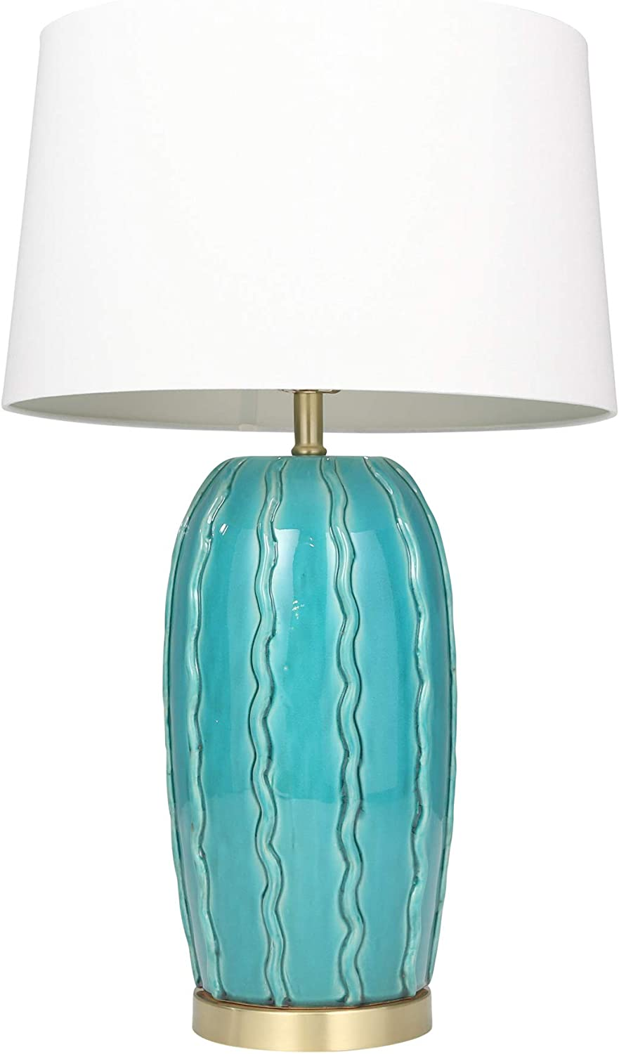 Sagebrook Home 50209 03 Ceramic Ribbon Table 31 Lamps Turquoise Teal
