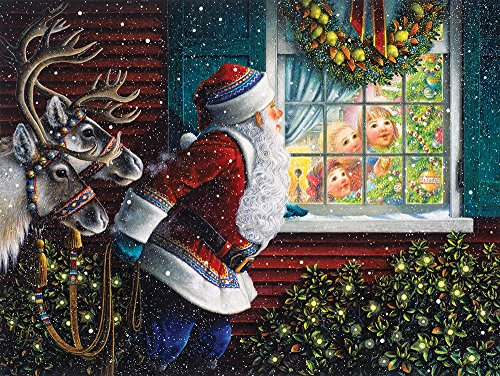 Springbok Puzzles - Gifts from Santa - 500 Piece Jigsaw Puzzle - Large 18 Inches 23.5 Inches Puzzle - Made in USA - Unique Cut Interlocking Pieces