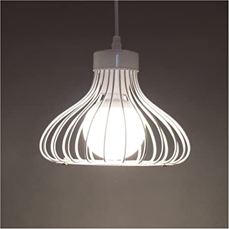 Retro White Pendant Shade Ceiling Light