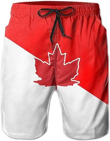 JIAU HUA Australian Independent Flag Mens Quick Dry Swim Trunks Casual Beach Shorts with Lining Skateboard Shorts