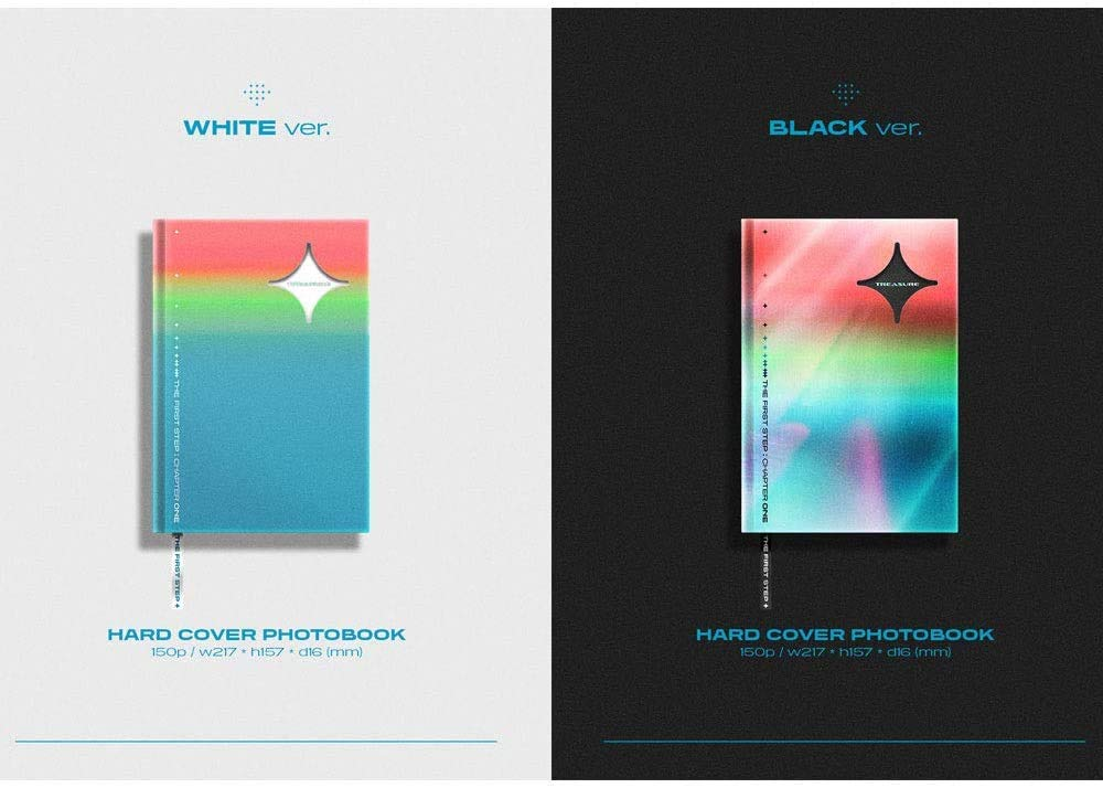 White+Black Full Set ver. Extra Decorative Stickers Pre Order 3rd Single Album The First Step : Chapter Three Treasure 2CD+2Photobook+2Folded Poster+Others with Tracking Photocards
