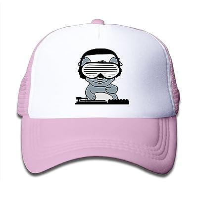 Kkidj Ooii Mesh Baseball Cap Boy&Girl Youth Snapback Hat DJ Koala Bear