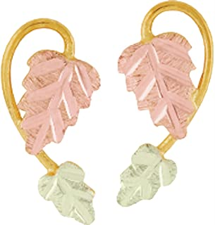 product image for Black Hills Gold Leaf Earrings