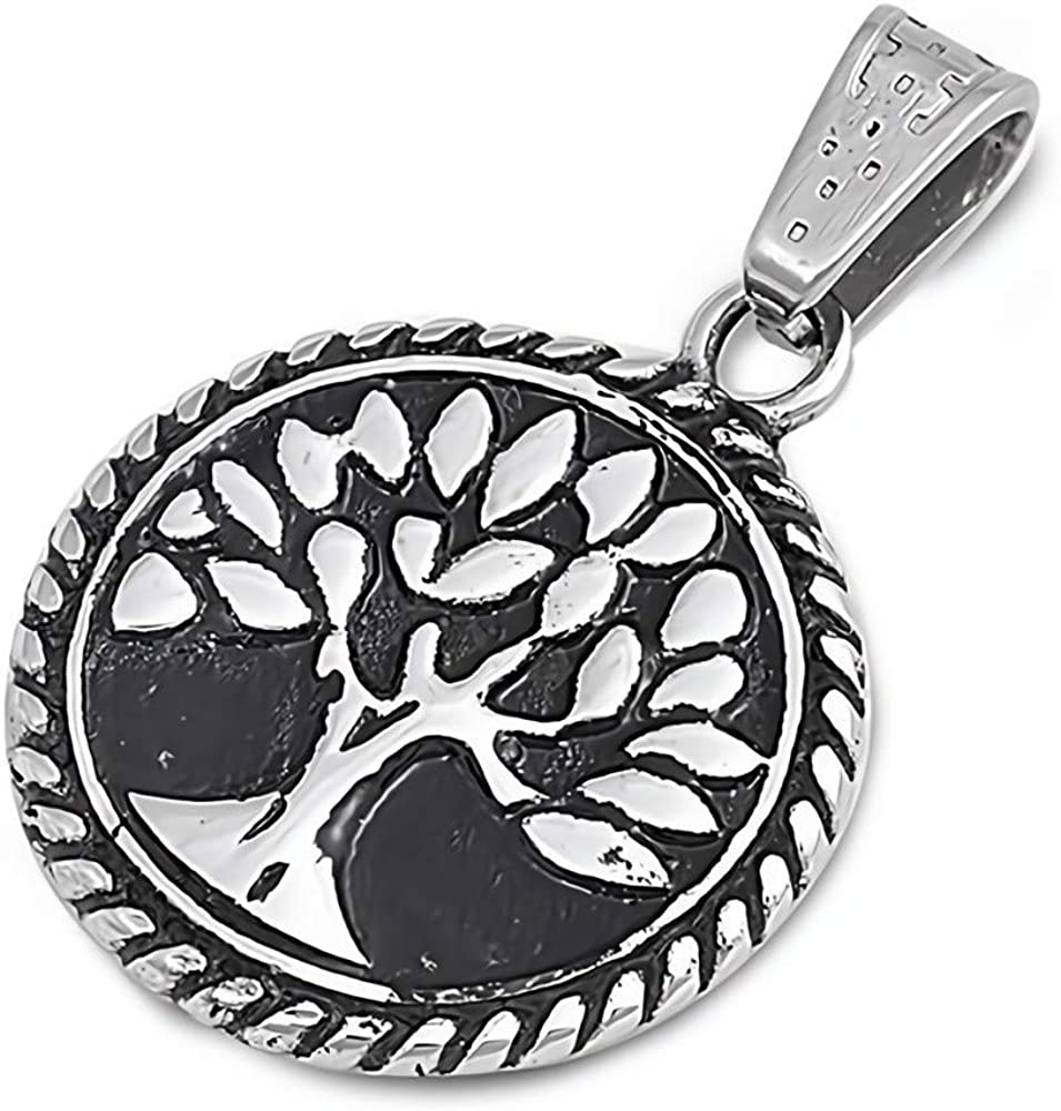 Tree of Life Jewelry for Men//Women Glitzs Jewels Stainless Steel Pendant for Necklace