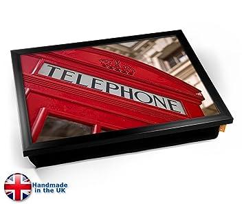Red Telephone Box London Cushion Lap Tray Cojín Bandeja de ...