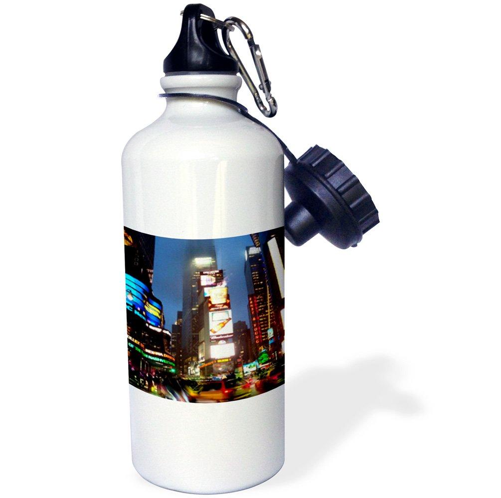 21 oz White 3dRose wb/_4394/_1Times Square Sports Water Bottle