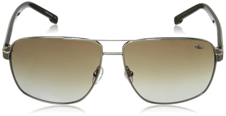 57cad7738c3e Amazon.com  Lacoste Men s L162S Aviator Sunglasses Gold 61 mm  Clothing