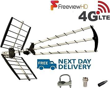 SSL 70 Element Tri Boom Antena de TV de alta ganancia, fácil configuración