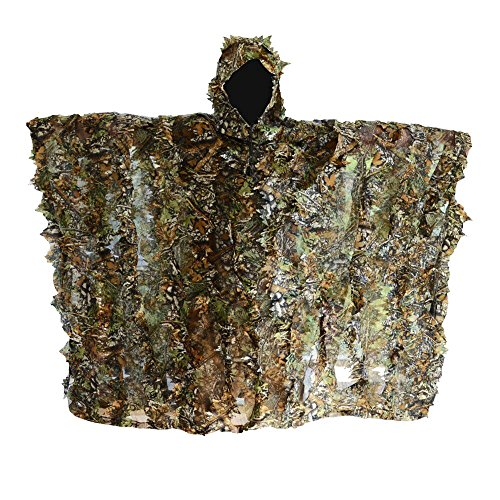FengLiu Outdoor 3D Leaves Camouflage Poncho Camo Cape Cloak Stealth for Hunting Shooting Monitoring Wildlife Photography and Bird Watching etc by FengLiu store