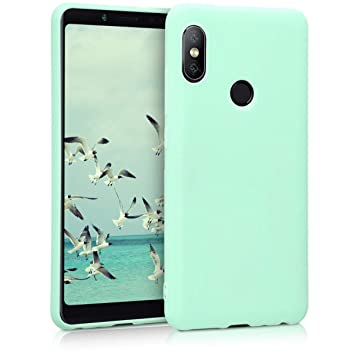 kwmobile Funda compatible con Xiaomi Redmi Note 5 (Global Version) / Note 5 Pro - Carcasa de [TPU silicona] - Protector [trasero] en [menta mate]