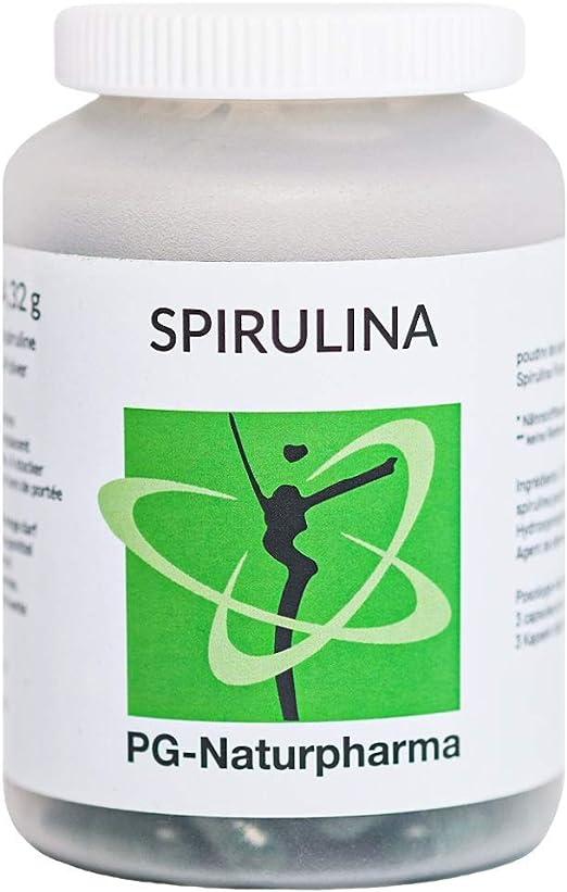 Spirulina orgánica, vegan, 120 cápsulas, 420 mg de polvo de espirulina por cápsula, sin estearato de magnesio, sin alérgenos