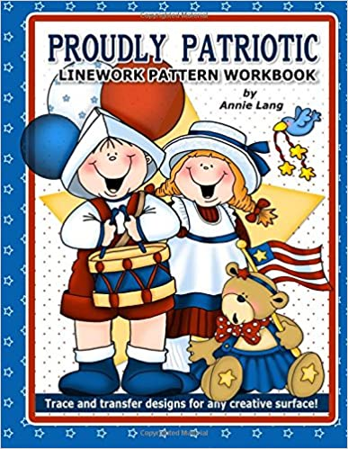 Book Proudly Patriotic: Linework Pattern Workbook