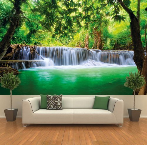 Poster Waterfall Nature Jungle Feng Shui Wall Picture