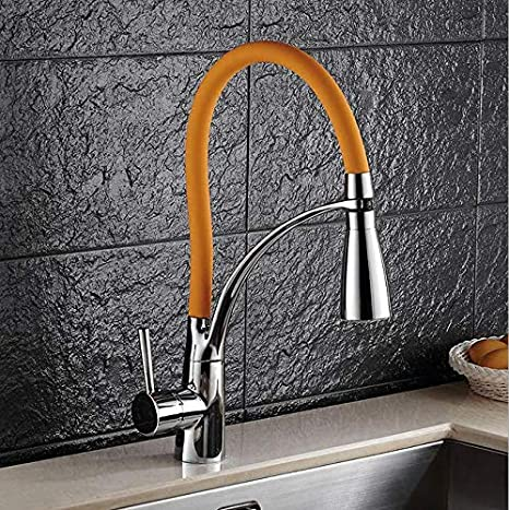 Amazon.com: European Kitchen Faucet Flume Rotary Pumping ...