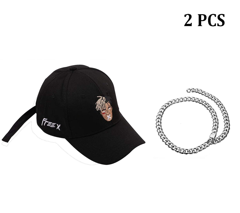 e6965b4464a Amazon.com  Detroital Unisex Xxxtentacion Rapper Hat Adjustable Baseball Cap  Dad Hat(Black)  Sports   Outdoors