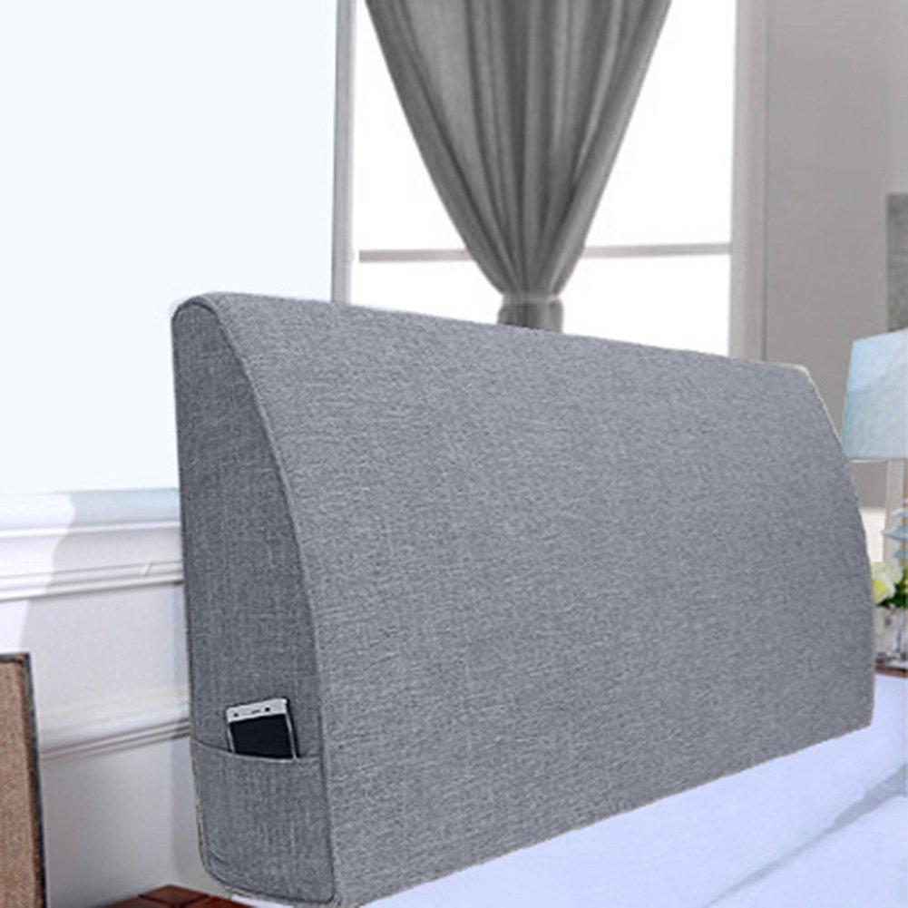 QIANGDA クッション ベッドの背もたれヘッドボードなし 疲れを和らげる ベッドで読む、 厚さ10/12 / 15cm、 6種類の無地、 9種類のサイズ 利用可能 ( 色 : グレー , サイズ さいず : 200 x 10 x 50cm ) B07B9LVXFNグレー 200 x 10 x 50cm