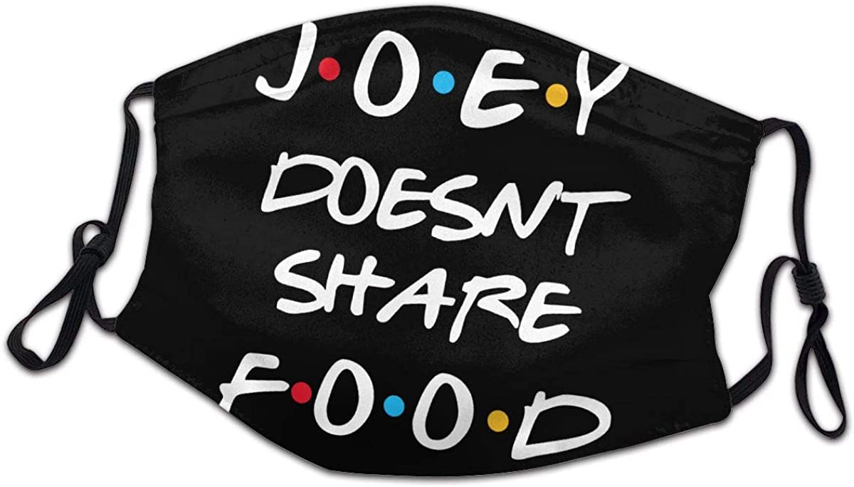 Friends Joey Doesn'T Share Food Adjustable Dustproof Scarf Balaclava Outdoor Headscarf