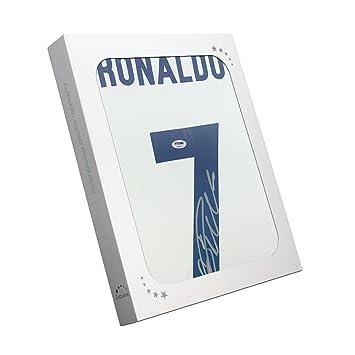 exclusivememorabilia.com Camiseta del Real Madrid firmada por Cristiano Ronaldo (PSA/DNA) en Caja de Regalo: Amazon.es: Deportes y aire libre