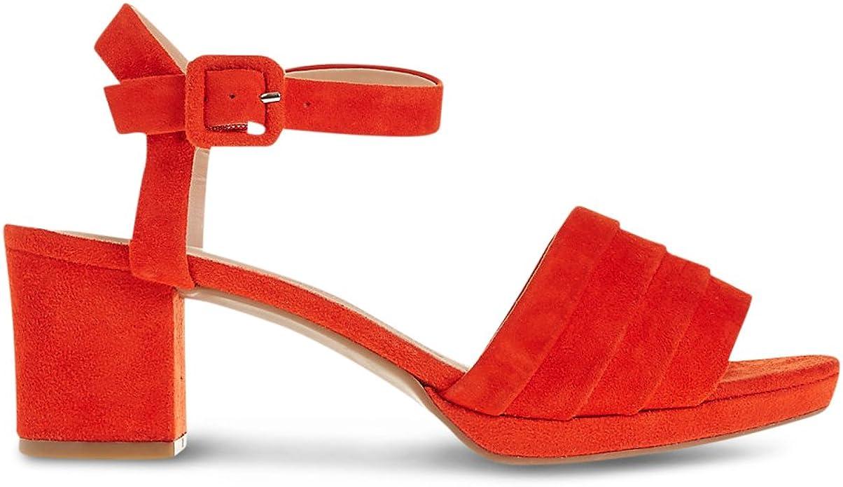 Wide Fit Suede Block Heel Sandals