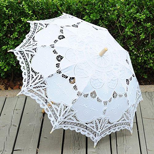 TBNA Bridal Lace Umbrellas Wedding Umbrella Bridal Parasol Umbrella for Bride Bridesmaid by TBNA Bridal (Image #3)