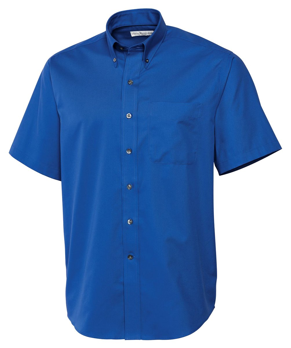 Cutter & Buck BCW01621 Men's S/S Epic Easy Care Fine Twill French Blue XLT