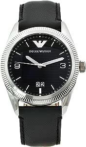 Emporio Armani Men's AR5893 Sports Black Leather Band Watch