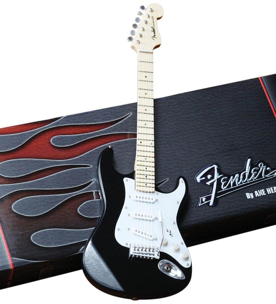 Axe Heaven FS-002 Fender Strat Classic Black Finish Minaiture Guitar Replica