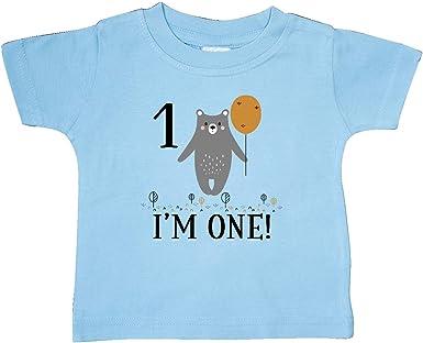 inktastic 1st Birthday Woodland Bear 1 Year Old Baby T-Shirt