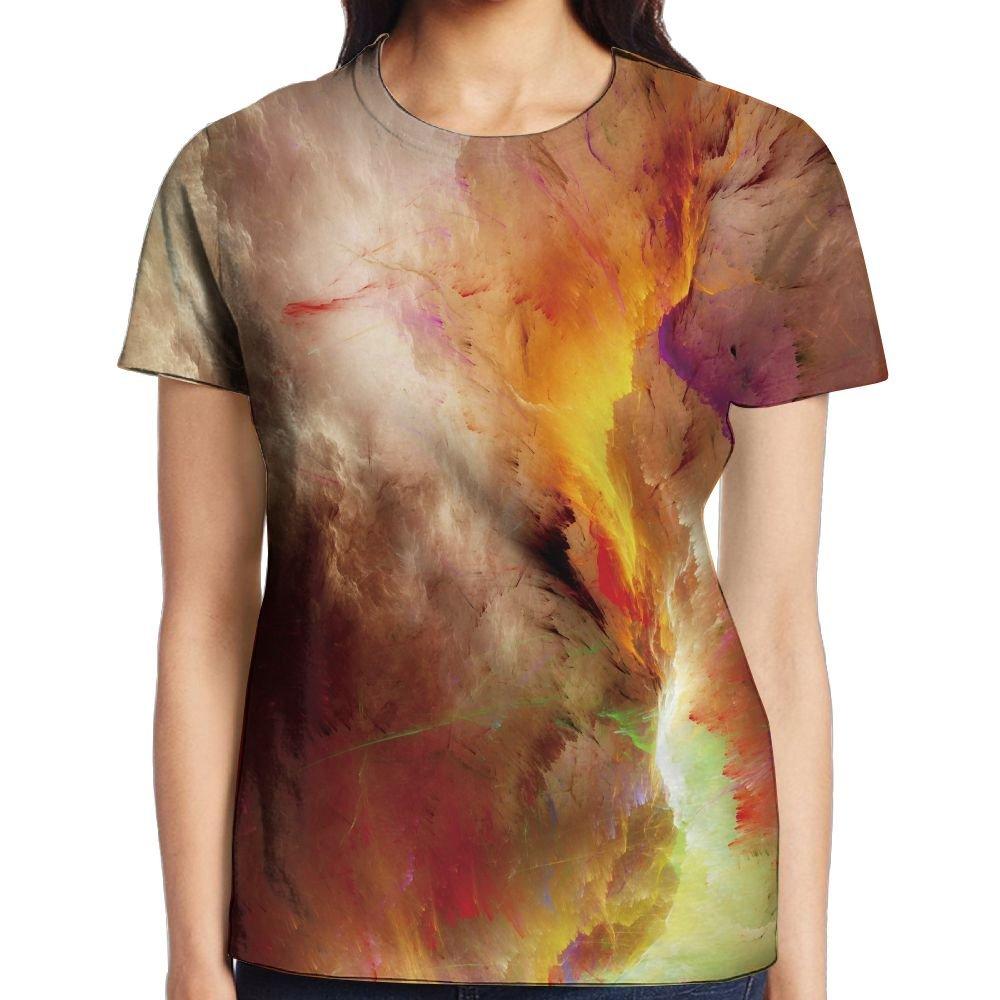 XIA WUEY Network Nebula Women's Popular Graphic Tee Quick Dry Shirt by XIA WUEY