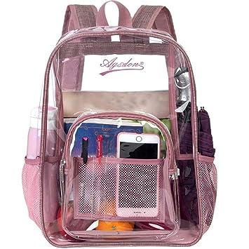 Heavy Duty Clear Backpacks for School Bookbag Stadium Approved Transparent Bag