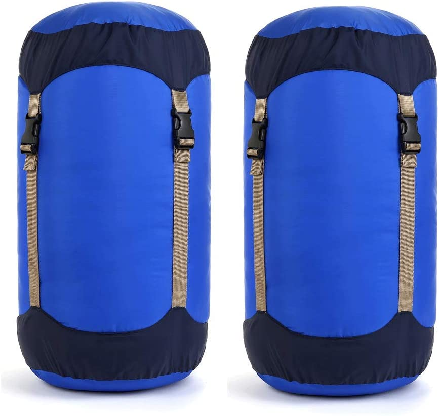 Black M Great for Backpacking and Camping L REDCAMP Sleeping Bag Stuff Sack XL and XXL Compression Sack